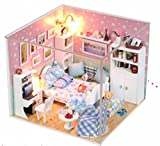 Wind Dollhouse Miniature DIY Kit Cover Butterfly Love Secret Sofa Living Room House Handcraft Christmas Birthday Gift
