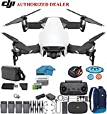 DJI Mavic Air Fly More Combo Drone - Quadcopter with 64gb SD Card - 4K Professional Camera Gimbal - 4 Battery Bundle - Kit - with Must Have Accessories (Arctic White)