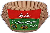 Melitta (732233494584) Super Premium 8-12 Cup Basket Coffee Filters, Natural Brown, 200 Count (Pack of 8)