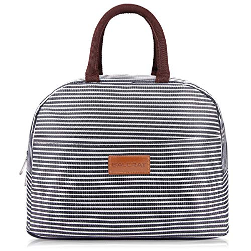 BALORAY Lunch Bag Tote Bag Lunch Bags for Women Men Lunch Organizer Lunch Holder Insulated Lunch Cooler Bag for Women/Men (Black)
