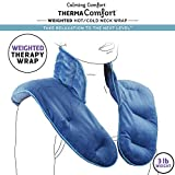 Calming Comfort ThermaComfort Weighted Hot/Cold Neck Shoulder Wrap- Deep Pressure Therapy, Herbal Aromatherapy, Comfort Fit Design- 3 lbs