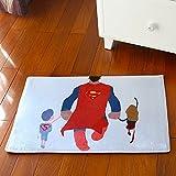 "Eonice Super Soft Anti-slip Microfiber Doormat Bedroom Kitchen Shaggy Area Rug Carpet, 15""x 23""(Superman)"