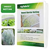 Agfabric Standard Insect Screen & Garden Netting Against Bugs, Birds & Squirrels - Mesh Netting, White (10'x20')