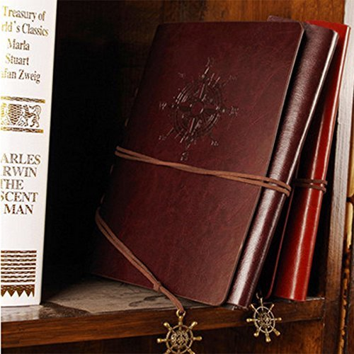 Scrapbook Album Navy Vintage Leather Photo Album Black Pages