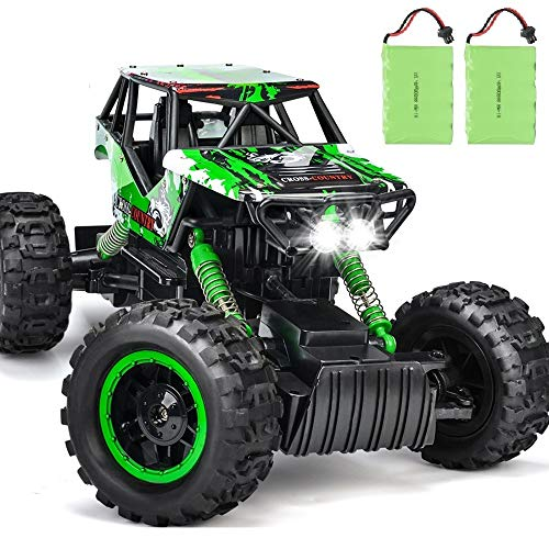 DOUBLE E Dual Motors 1:12 Remote Control Car Rock Crawler 4WD Rechargeable Vehicles Off-Road Car