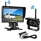 """LeeKooLuu Wireless Backup Camera 7"""" Monitor System for RV/SUV/Van/Pickup/Truck/Trailer Rear/Side/Front View System Switchable IP69 Waterproof Night Vision Guide Lines ON/Off"""