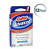Cutter Advanced Insect Repellent, Individually Wrapped Mosquito Wipes, Fragrance Free, 3 Count, 12 Pack (Total of 36 Wipes)