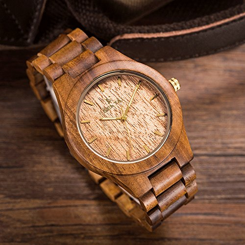pointer handmade lightweight movement watches wooden japanese wrist luminous ultribe com watch mens wood quartz dp with amazon