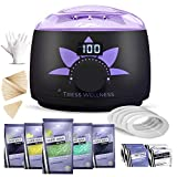 Home Waxing Kit Wax Warmer Hair Removal Waxing Kit - Professional at Home Waxing Kit - Wax Machine for Body Wax - Hard Wax Kit Wax Pot - Waxing Pot Brazilian Wax Kit - Hard Wax Warmer Wax Heater