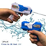 Ziwing Super Water Squirt Pistol Gun Pocket Size 2 Pack for Kids Adults ,Hot Summer Water Blaster Toys 2019 New (2 Pack)