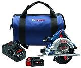 """Bosch CCS180-B14 18V 6-1/2"""" Circular Saw Kit with CORE18V Battery, Blue"""