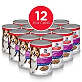 Hill's Science Diet Canned Dog Food, Adult 7+, Savory Stew with Beef & Vegetables, 12.8 oz, 12 Pack