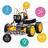 OSOYOO Robot Car Starter Kit for Arduino UNO Smart V2.0 WiFi/Bluetooth APP Simulator Driving STEM Toys Gifts for Kids Teens with Line Tracking, Obstacle Avoidance,Dog Fighting