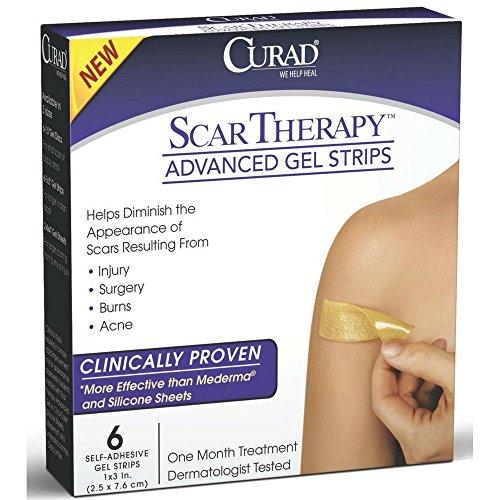 Curad Scar Therapy Advanced Gel Strips 6 Each