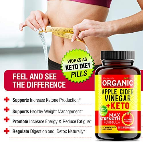 Apple Cider Vinegar Capsules with Mother + Keto BHB (High Potency 1950 mg), Keto Weight Loss Pills - Apple Cider Vinegar Pills for Weight Loss, Keto Pills Weight Loss, Keto Supplement 4