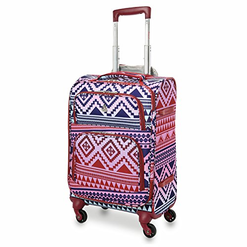 "Aerolite 22x14x9"" Carry On MAX Lightweight Upright Travel Trolley Bags Luggage Suitcase, 4 Wheel Spinner, Maximum Allowance (Aztec Multicolour)"