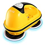 Housmile electric spin mop, powerful floor cleaner with adjustable handle, spin mop polisher and scrubber for all surface floor