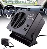 Portable Car Heater, Car Heater Cooling Fan, Portable Car Windscreen Demister, Defroster Compact Air Heater, by Elumaxon (12V - 150W)
