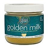 Gaia Herbs Golden Milk Powder - Organic Turmeric and Ashwagandha Blend, A Daily Wellness and Mindfulness Ritual, 30 Servings