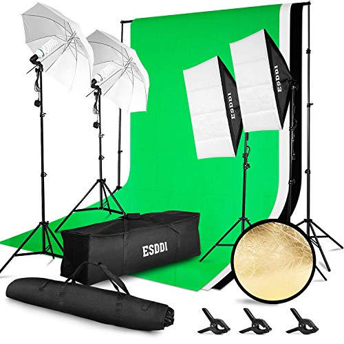 ESDDI Softbox Lighting Kit for Photography