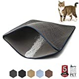 """WePet Cat Litter Mat Kitty Litter Trapping Mat 30 x 25"""" Large Size Honeycomb Double Layer Design No Phthalate Urine Water Proof Easy Clean Scatter Control Litter Catcher Litter Box Rug"""