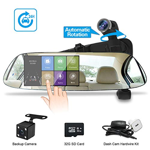 Spedal Dual Mirror Dash Cam with 32G