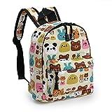 Zicac Children's Cute Canvas Backpacks Mini Rucksack Bag (S, Beige)