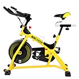 ANCHEER Indoor Cycling Exercise Bike (Yellow)