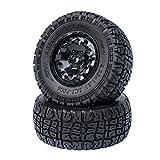 PR Racing SCT-P006 2.2'/3.0' Short Course Truck Tires with Foam Inserts & Black Wheel Rims 12mm Hex 2Pcs