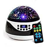 2019 Newest Baby Night Light, AnanBros Remote Control Star Projector with Timer Music Player, Rotating Star Night Light 9 Color Options, Best Night Lights for Kids Adults and Nursery Decor