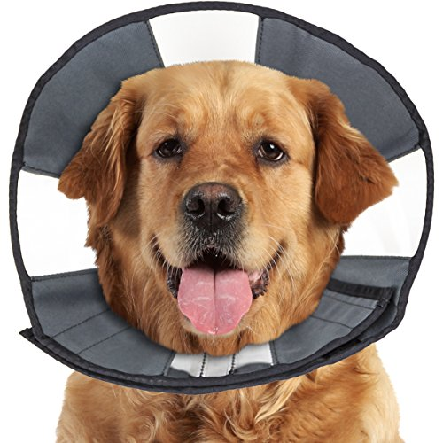 ZenPet ProCone Pet E-Collar for Dogs and Cats - Comfortable Soft Recovery Collar is Adjustable for a Secure and Custom Fit - Easy for Pets to Eat and Drink - Works with Your Pet's Collar - X-Large