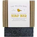 Activated Charcoal Soap Bar. All Natural Detoxifying Face & Body Cleanser. Certified Organic Ingredients. Paraben & Sulfate Free. For Acne, Eczema, Psoriasis, Rosacea, Dry Sensitive Skin