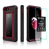 iPhone 8 / iPhone 7 case ZUSLAB New Armor Shield with Tempered Glass Screen Protector, Dual Layer Protection Heavy Duty Shockproof Cover for Apple iPhone 8 / iPhone 7