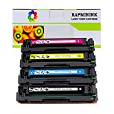 RapmininK Compatible Replacement for 410A CF410A CF411A CF412A CF413A Toner Cartridge for use with Color LaserJet Pro MFP M477fdw M477fdn M477fnw, Pro M452dn M452nw M452dw Series Printers - 4 Pack