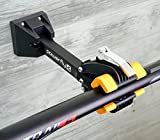 Powerfly Wall Mount Bike Repair Stand - Bicycle Mechanic Rack for Garage or Home - Wall-Mounted Foldable Maintenance Cycle Storage Workstand with Quick Release Adjustment Clamp