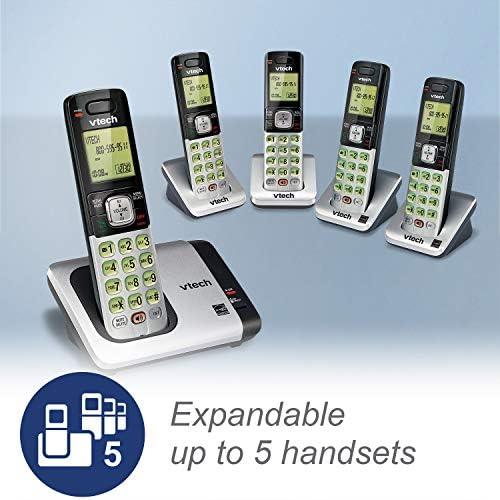 VTech CS6719-2 2-Handset Expandable Cordless Phone with Caller ID/Call Waiting, Handset Intercom & Backlit Display/Keypad 21