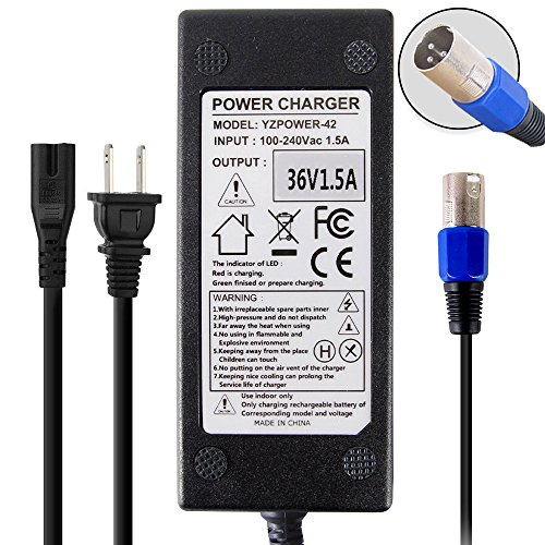 Abakoo New 36V 1.5A Battery Charger for Razor MX500 MX650, Izip I600 I750 I1000, X-Treme X-300 X-600, Mongoose M750, X1000 S1000 ST1000 S600 S750 Electric