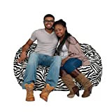 Product review for Bean Bag Chair 5' With 29 Cubic Feet of Premium Foam inside a Protective Liner Plus Removable Machine Wash Microfiber Cover by Cozy Sack