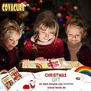 Colored Pencils Set for Adult and Kids – COVACURE Premier Color Pencil Set With 36 Colouring Pencils Sharpener and Canvas Pencil Bag for Kids and Adult Coloring Book. Ideal for Christmas Gifts