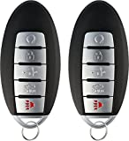 KeylessOption Keyless Entry Remote Starter Smart Car Key Fob for Nissan Armada Infiniti QX80, QX56, CWTWB1G744 (Pack of 2)