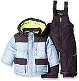 OshKosh B'Gosh Baby Boys Ski Jacket and Snowbib Snowsuit Set, Grey Print, 12M