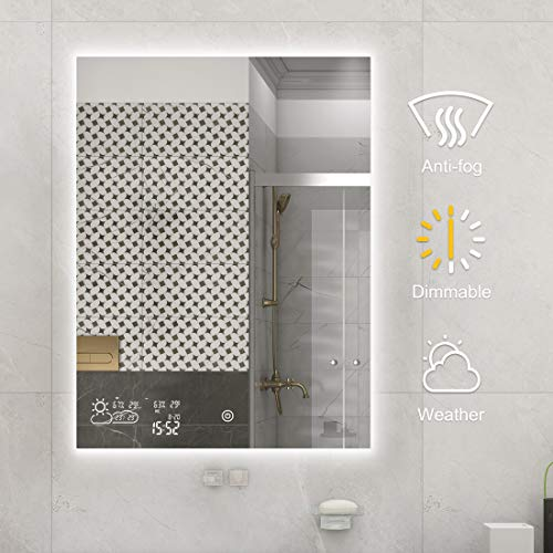 BYECOLD-Vertical-Vanity-Bathroom-Mirror-with-Dimmable-LED-Light-Touch-Switch-Demister-Weather-Forecast-Lighted-Makeup-Mirror-Wall-Mirror-236x315