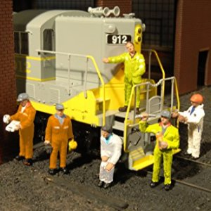 Bachmann Industries Miniature HO Scale Figures Mechanics Train(6 Piece) 51b73ShnbEL