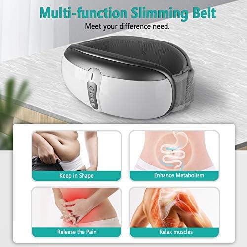 Rilassa Wireless Slimming Belt, Electric Abdominal Massager Portable Weight Loss Machine with 4 Vibration Massage Modes& Heating, Fat Burning Movement Improve Blood Flow For Women & Men 4