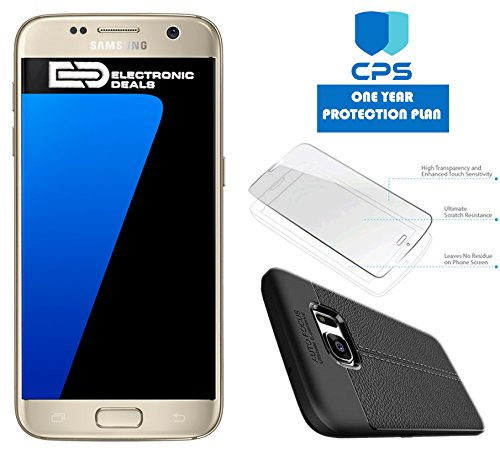 "Samsung Galaxy S7 G930 Verizon CDMA /GSM Unlocked (Certified Refurbished) w/ ""ED Bundle"" – $99 Value (Bundle Includes: ED Case + Screen Protector + 1 Year CPS Limited Warranty)"