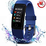 MorePro Fitness Tracker Waterproof Activity Tracker with Heart Rate Blood Pressure Monitor, Color Screen Smart Bracelet with Sleep Tracking Calorie Counter, Pedometer Watch for Kids Women Men,Bule