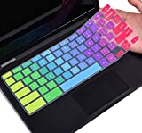 Colorful Keyboard Cover Compatible with Dell 11.6 Chromebook/Dell Chromebook 11 3120 3180 3181 3189 5190 11.6' / Dell Chromebook 13 3380 13.3' Protective Skin, Dell Chromebook Accessories, Rainbow