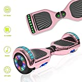 TechClic Electric Hoverboard Self-Balancing Hoover Board with Built in Speaker LED Lights Wheels UL2272...