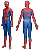 Seven Plus Unisex Lycra Spandex Zentai Halloween Cosplay Costumes AdultKids 3D Style , MensMedium , RedBlue