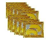 24K Gold Powder Gel Collagen Eye Masks Sheet Patch, Anti Aging,Remove Bags,Dark Circles &Puffiness,Anti Wrinkle,Moisturising,Hydrating,Uplifting Whitening,Remove Blemishes &Blackheads (10 Pairs)